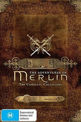 The Adventures of Merlin: Series 1, 2, 3, 4 & 5 DVD Box Set R4 New Sealed