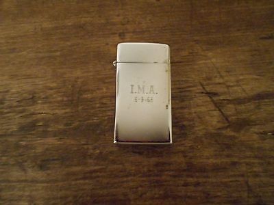 Vintage 1968 Scripto Lighter With Initials I.m.a.