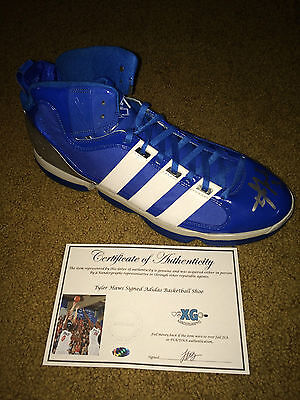 Tyler Haws Byu Brigham Young Signed Autographed Blue Basketball Shoe-Proof Coa