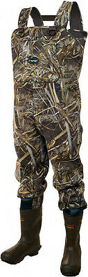 Frogg Toggs Amphib Max-4 Camo Bootfoot Waders Size 8 (2713655) - NEW