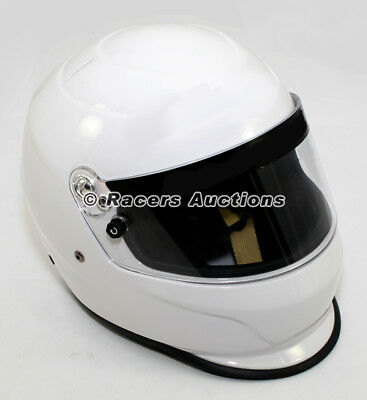 High Gloss White XX-Large Helmet Full Face Auto Racing Dirt Drag SA 2010 Rated