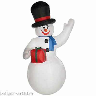 10ft Light Up Christmas WAVING SNOWMAN Outdoor Inflatable Garden Decoration