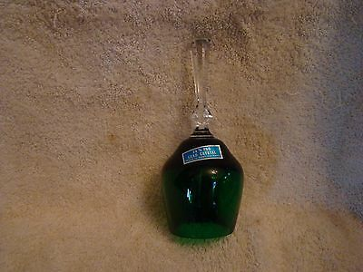 """Green Lead Crystal 7.5"""" Bell made in West Germany"""