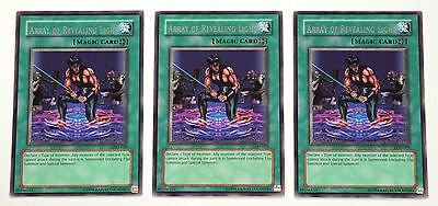 YuGiOh! Yu-Gi-Oh! Array of Revealing Light x3 LOD-029 Legacy of Darkness NM