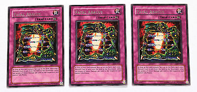 YuGiOh! Yu-Gi-Oh! Fatal Abacus x3 Playset LOD-011 Legacy of Darkness NM