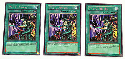 YuGiOh! Yu-Gi-Oh! The A. Forces x3 Playset LOD-027 Legacy of Darkness NM