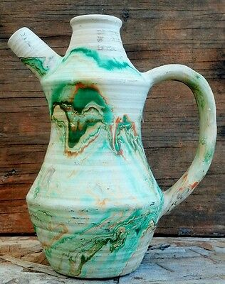 NEMADJI Art Pottery Swirl EWER VASE PITCHER Native American Southwest