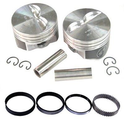 Speed Pro H860CP30 Chevy 383 Flat Top Hyper Pistons & Moly Ring Kit 030 SBC 5.7""