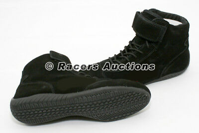 NEW Black Mid-Top Size 12 Driving Racing Shoes Karting Circle Track Safety