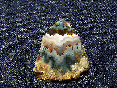 "Prudent Man Plume  Agate  slab--- 1 7/8"" x   1 1/2""--- rough-cabbing-display"