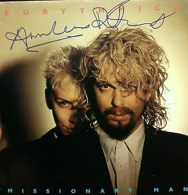 EURYTHMICS LP Signed by Annie Lennox and Dave Stewart!! Photos BEAUTIFUL GRAPHS!
