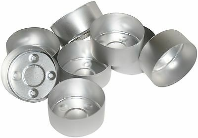 100 Tealight Candle Moulds. Aluminium. For making tealight candles
