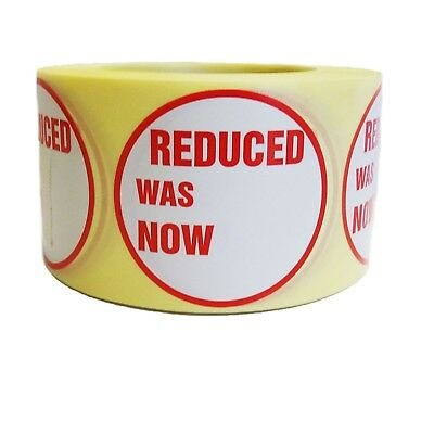 500x RED REDUCED WAS NOW SELF ADHESIVE STICKERS STICKY LABEL LABEL FOR RETAIL