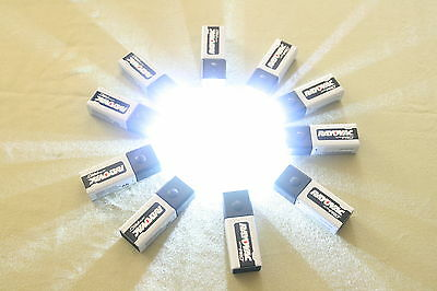 10- 9 volt led push button Blocklites with free rayovac ultra pro