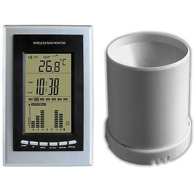 Lenoxx Wireless Weather Station Wst11 Clock Rain Gauge Indoor Outdoor Temp