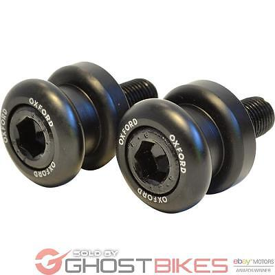 Oxford Paddock Stand Bobbins M12 - 1.25 Thread Black Motorcycle Rear Adapters