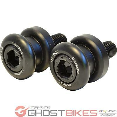 Oxford Paddock Stand Bobbins M8 - 1.0 Thread Black Motorcycle Bike Rear Adapters
