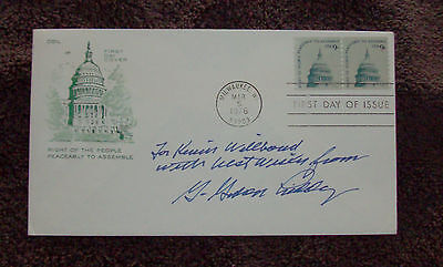 1976 First Day Cover (FDC) - signed by G. Gordon Liddy (Nixon Watergate figure)