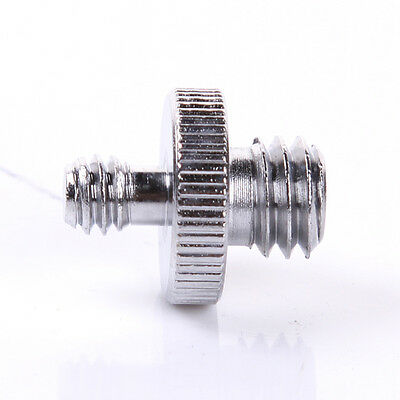 1pcs 1/4'' to 3/8'' Double Male Threaded screw Adapter for Camera Tripod Monopod