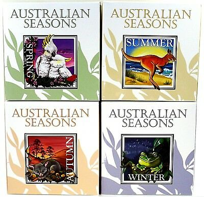 2013 Four Seasons Of Australian 1oz .999 Square Silver Coins