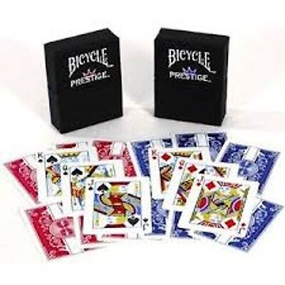 2 Box Edition Decks Red Blue Bicycle Prestige Poker Playing Cards 100% Plastic.