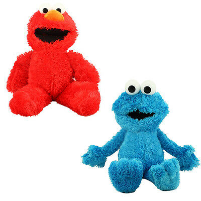 Playskool Sesame Street Lets Cuddle Plush Cuddly Toy / Elmo Or Cookie Monster
