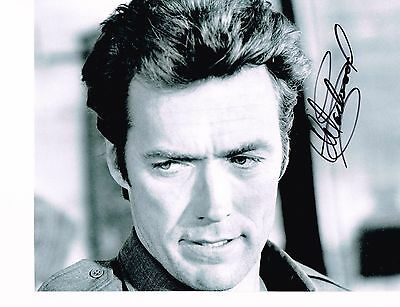 Clint Eastwood 8x10 Authentic Hand Signed Autographed Photo W/COA