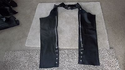 Harley Davidson Stlyle  Black Leather Chaps