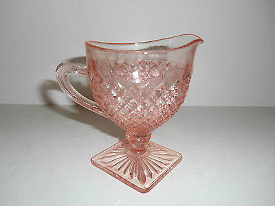 Nice Pink Miss America Footed Creamer by Anchor Hocking