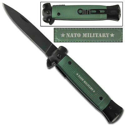 Striker Spring Assisted NATO Green Berets Military Combat Stiletto Style Knife