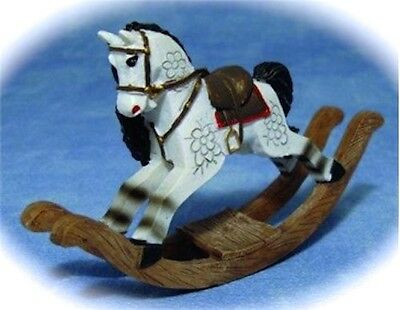 Resin Rocking Horse, Dolls House Miniatures Nursery Toys  1/12 scale