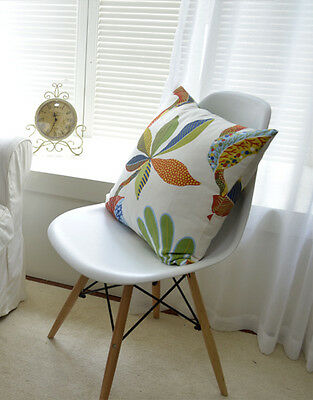 Vintage Hawaii Leaf and Flower Home DECOR Cotton LINEN CUSHION COVER PILLOW CASE