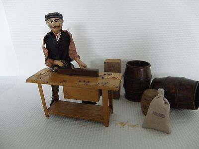 Fernand Martin Le Menuisier, the carpenter tin wind up toy france 1908 rare toy