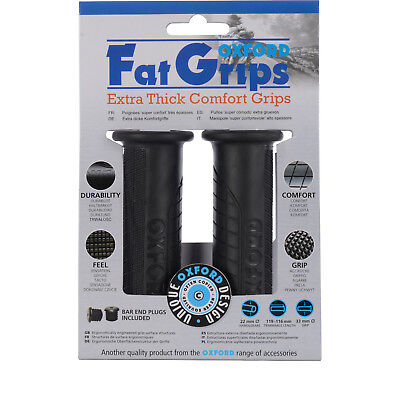 Oxford Motorcycle Fat Grips Motorbike Extra Thick Comfort Handlebar Essential