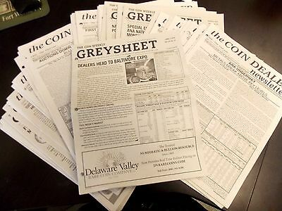 GREYSHEET - Coin Dealer Weekly Newsletter Price Guide ***Back Date Issue ***
