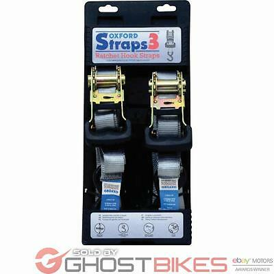 Oxford Straps 3 Travel&Transportation Ratchet Hook Straps Motorcycle Motorbike