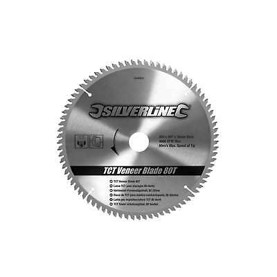 Silverline 250x30-25,20,16mm TCT Veneer Blade 80T Circular Saw Power - 244964