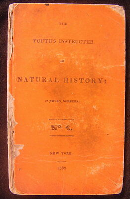 The Youth's Instructor in Natural History 1832 rare engraved plates juvenile
