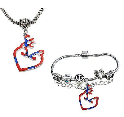 Christmas Gift 1Set Browning Deer Necklace Bracelet Fashion Jewelry Free Ship