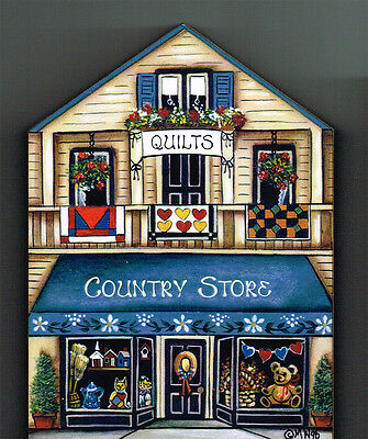 Brandywine Collectible Houses & Shops: COUNTRY STORE - QUILTS Shelf Sitter