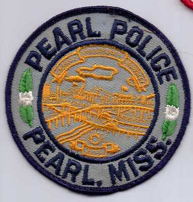 PEARL MISSISSIPPI POLICE PATCH-OBSOLETE-OBSOLETE-USED
