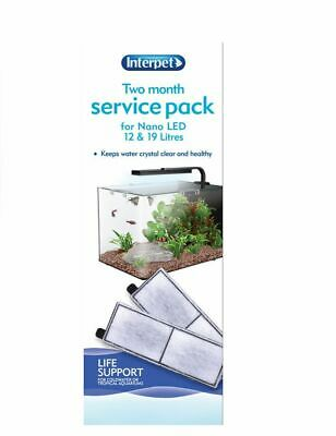 Interpet Two Month Service Pack Filter Cartridge Nano Led Fish Tank Aquarium