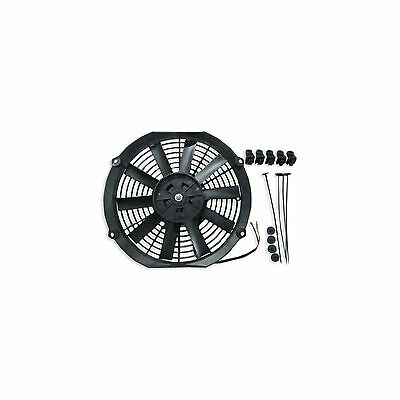 """12"""" 24v Push Type Radiator Cooling Fan With Straight Blades + Mounting Kit"""