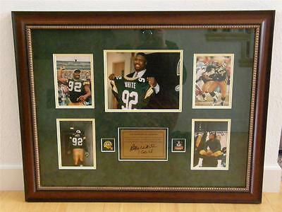 REGGIE WHITE Autographed Plaque Framed Photo Collage Green Bay Packers COA