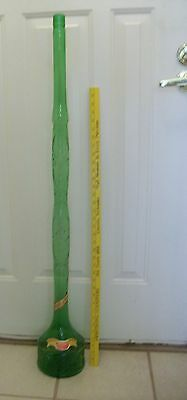TALL EMPTY WINE BOTTLE-CASTELLO VINO ROSSO-ITALY-44 INCHES TALL