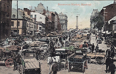 Bonsecours Market MONTREAL Quebec Canada 1908 Valentine Postcard