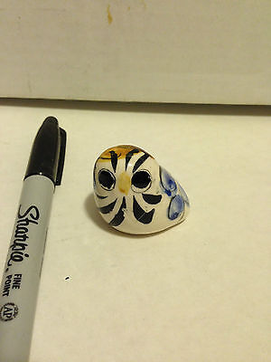 Small Ceramic Owl (?) Folk art, handpainted. See the the collection!