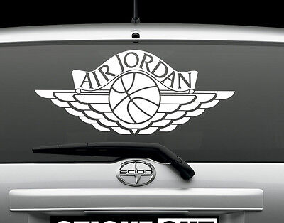 """AIR JORDAN Wings Vinyl Decal Auto Graphics or Wall Sticker 24"""" Wide"""