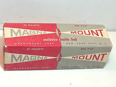"50 - 35mm 2""x2"" 5x5 cm Magna Mount Glass Slide Double Lock Slides MagnaMount NOS"