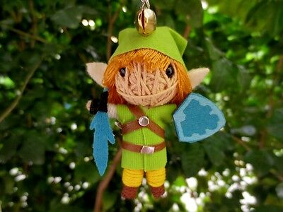 LINK LEGEND OF ZELDA KEY RING VOODOO GIFT FREE CHAIN DOLL STRING CRAFT TOY C#17
